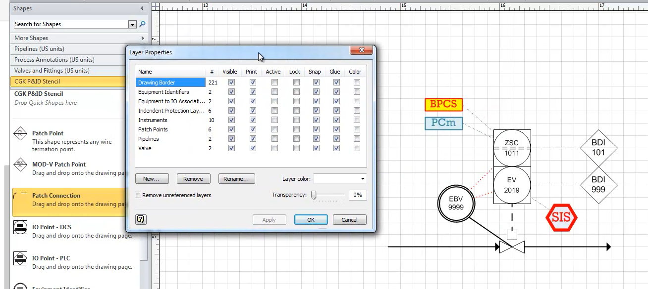 CGK P&ID Tool for MS Visio